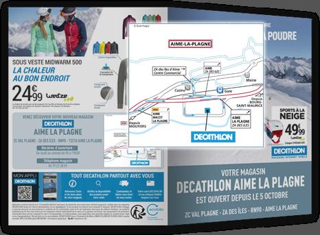 Plan d'accès personnalisé Décathlon
