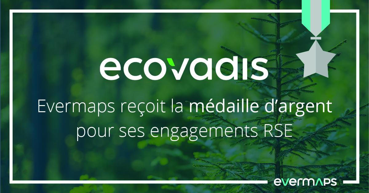 ecovadis médaille argent evermaps