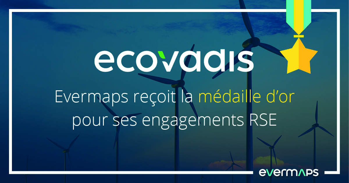 ecovadis médaille or evermaps