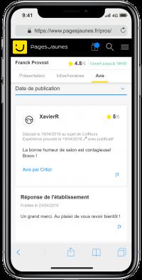e-réputation locale Franck Provost
