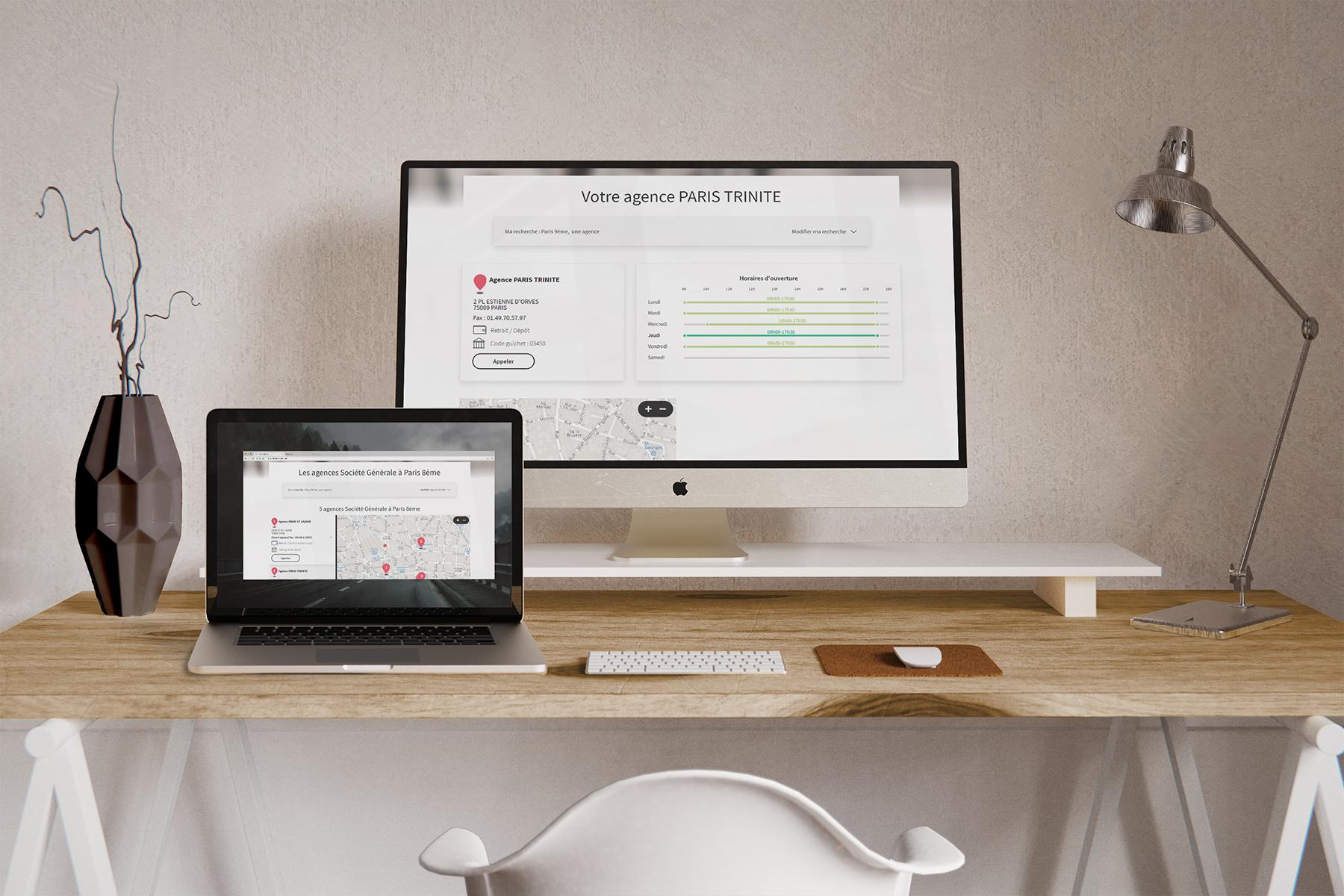 Store Locator Société Générale desktop