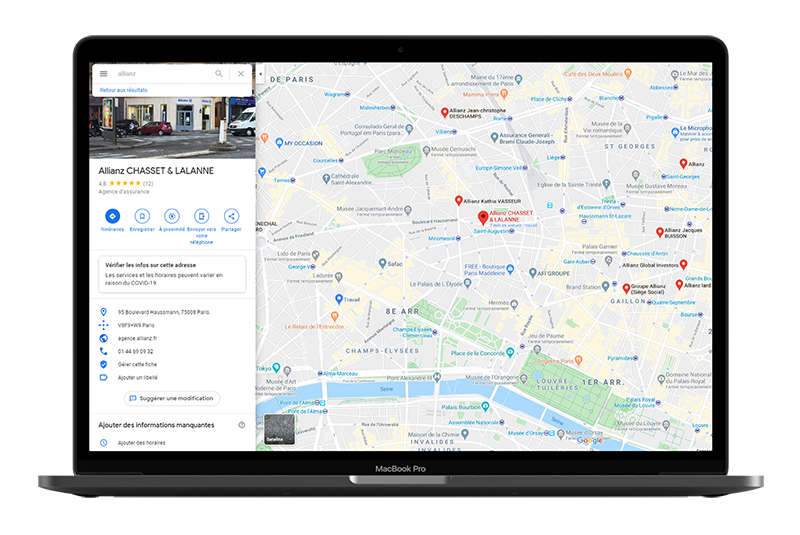 Google my Business Allianz, exploitez la puissance du Pack Local