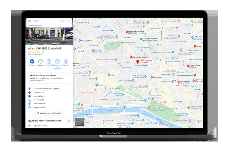 Google my Business Allianz, exploitez la puissance du Pack Local