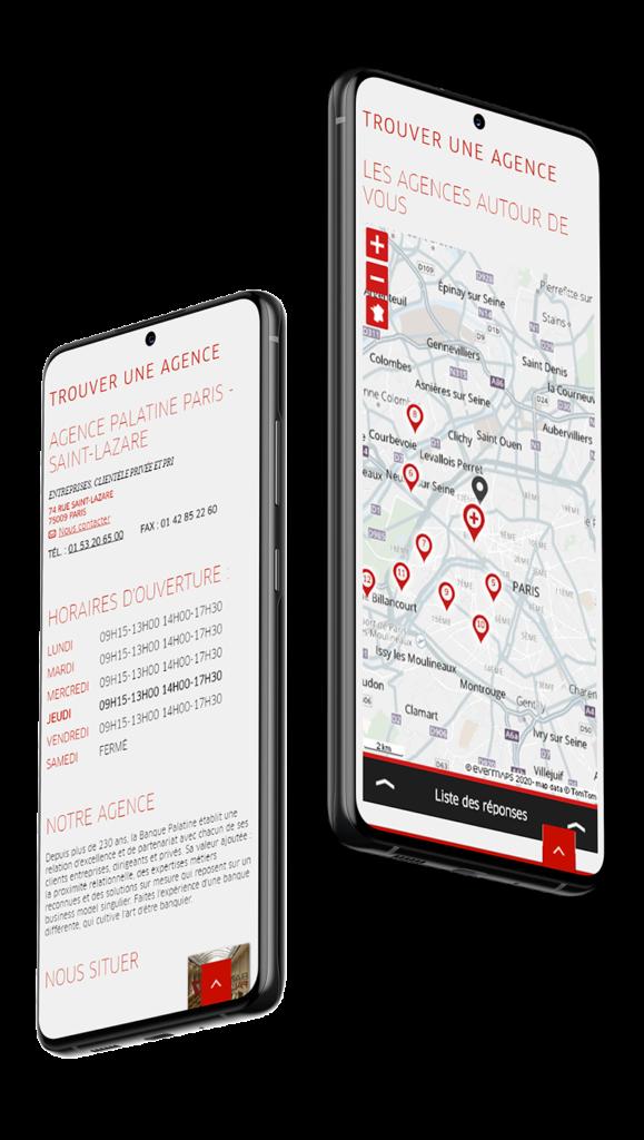 Store Locator Banque Palatine mobile
