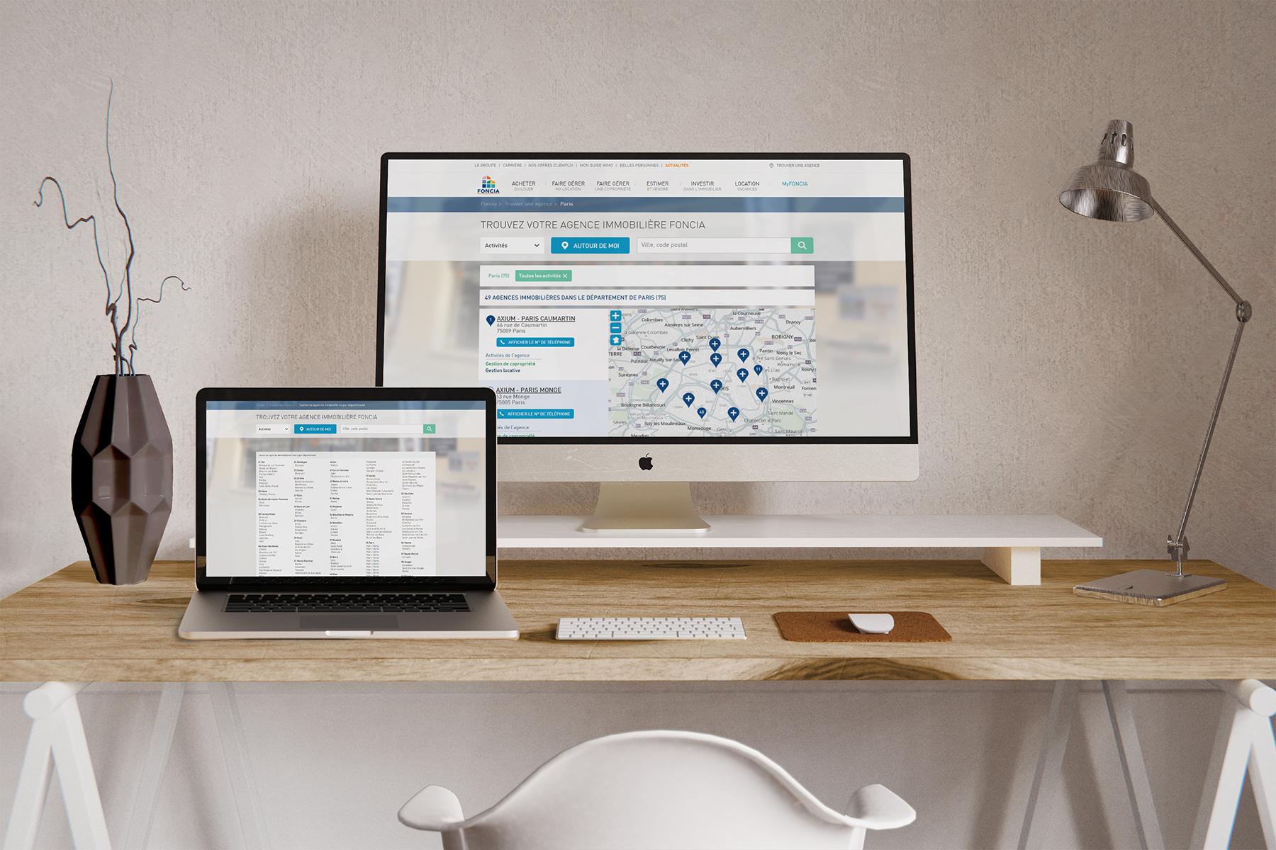 Store Locator Foncia desktop