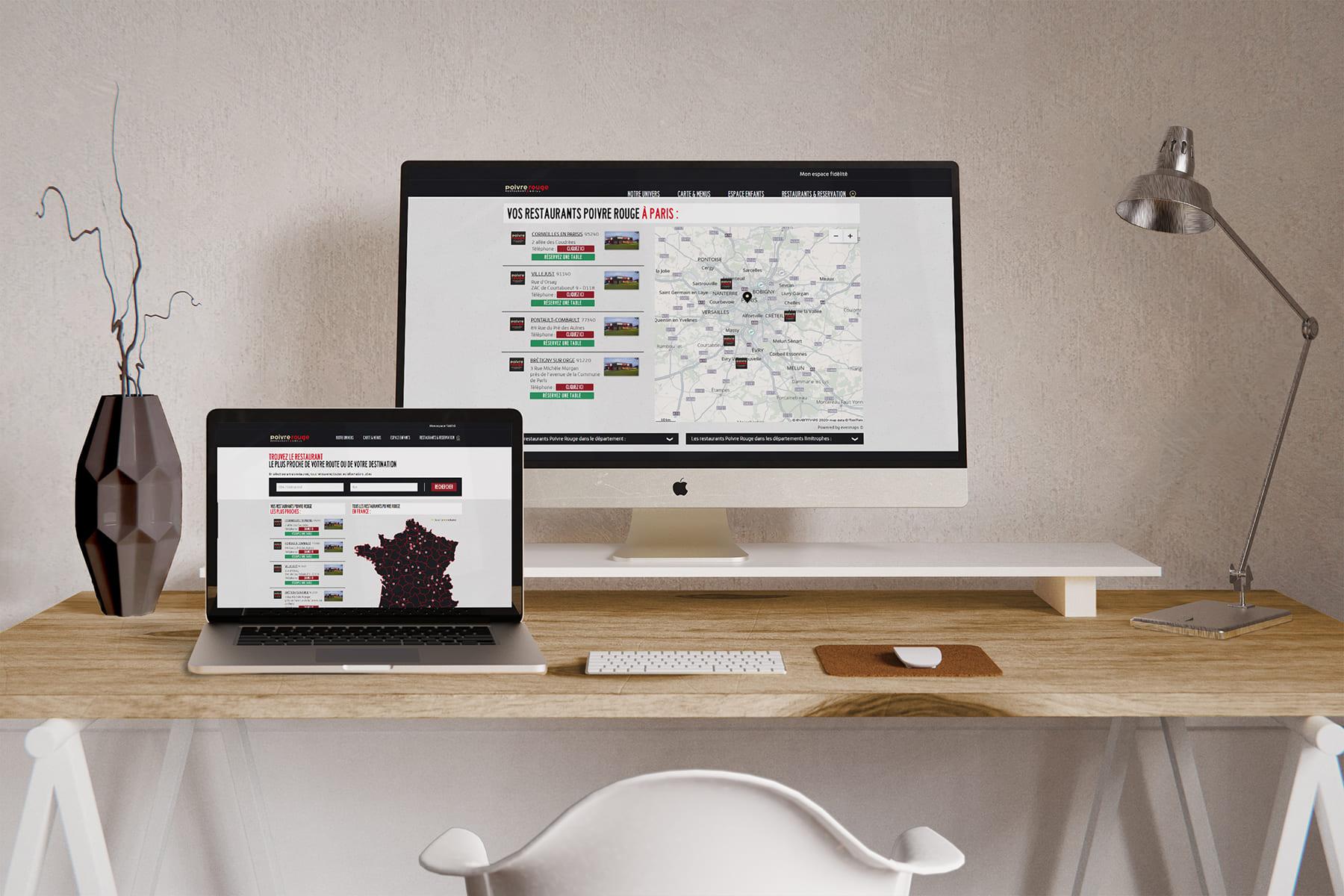 Store locator desktop Poivre Rouge