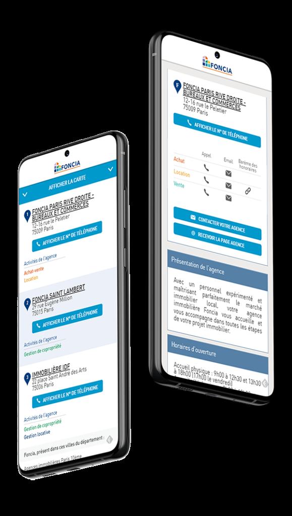 Store Locator mobile Foncia