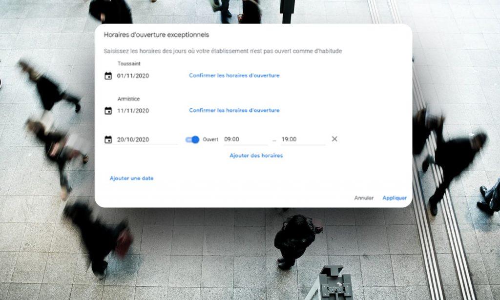 Comment configurer des horaires exceptionnels avec Google my Business ?