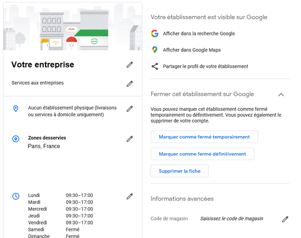 Google my Business permet d'offrir des informations précises aux internautes